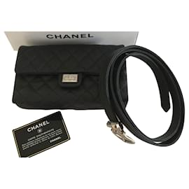 Chanel-Chanel uniform  2,55 Belt pouch caviar black-Black