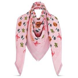 Louis Vuitton-Châle LV Jonas Wood x LV neuf-Rose