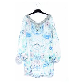 Camilla-turquoise silk-Turquoise
