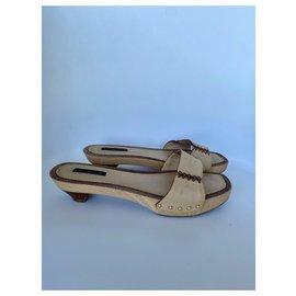 Louis Vuitton-Mules-Beige