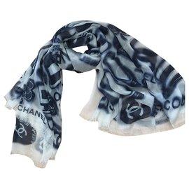 Chanel-ETOLE CHANEL CACHEMIRE-Bleu Marine