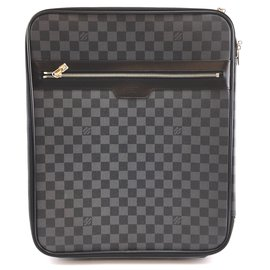 Louis Vuitton-Louis Vuitton Pegase 45 Damier Graphite Canvas-Black