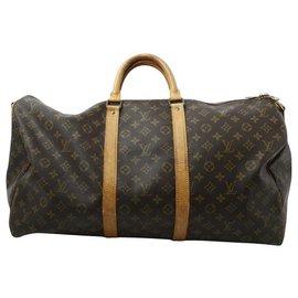 Louis Vuitton-Louis Vuitton Keepall 55-Brown