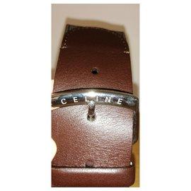 Céline-Céline wide belt-Brown