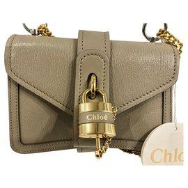 Chloé-Chloe Aby Chain Mini Shoulder Crossbody Bag-Grey
