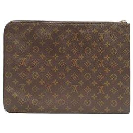 Louis Vuitton-Portefeuille de documents Louis Vuitton Brown Monogram Poche-Marron