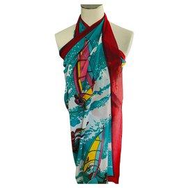 Hermès-paréo surf-Multicolore