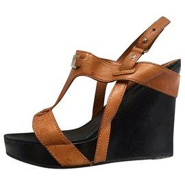 Céline-Céline Wedge sandals-Brown