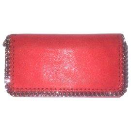 Stella Mc Cartney-STELLA McCARTNEY Wallet Falabella-Red,Silver hardware