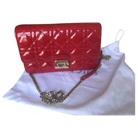 Christian Dior-Miss Dior Crossbody bag / pouch red patent leather-Red