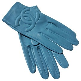 Chanel-Chanel gloves-Blue