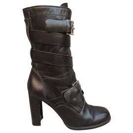 Céline-Céline p boots 39-Dark brown