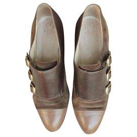 Hermès-Hermès buckle shoe p 39-Brown
