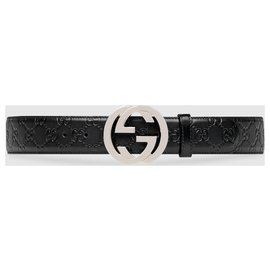 Gucci-Gucci Signature leather belt-Black