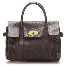 Mulberry-Mulberry Brown Leather Bayswater Handbag-Brown,Dark brown