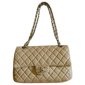 Chanel-Handbags-Beige