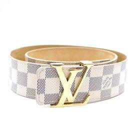 Louis Vuitton-Louis Vuitton LV Initiales Damier Azur Ceinture Taille 80/32-Marron