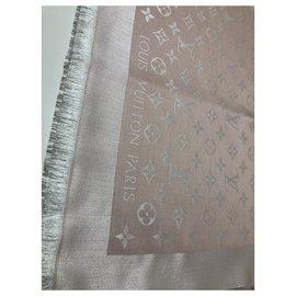 Louis Vuitton-Châle en denim monogramme Louis Vuitton-Rose