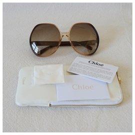 Chloé-Sunglasses-Brown,Beige