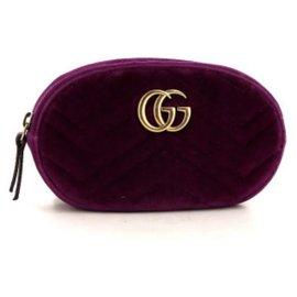 Gucci-Pochette-ceinture Gucci GG Marmont en velours matelassé violet-Violet