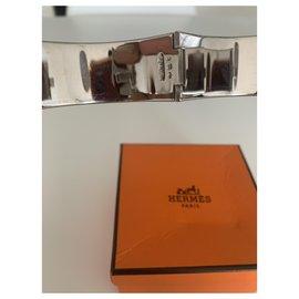 Hermès-Bracelet clic h hermès-Rouge,Bordeaux