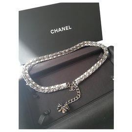 Chanel-Ceinture fantaisie-Argenté