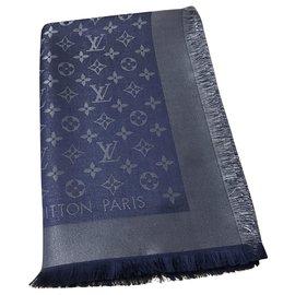 Louis Vuitton-Scialle Louis Vuitton Shine blu-Bleu