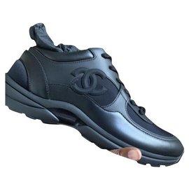 Chanel-sneakers full black-Black