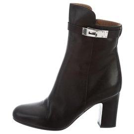 Hermès-Hermès Joueuse ankle boots, size 38 IT-Black