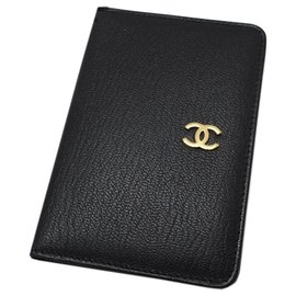 Chanel-Chanel Black Leather Agenda Cover-Black