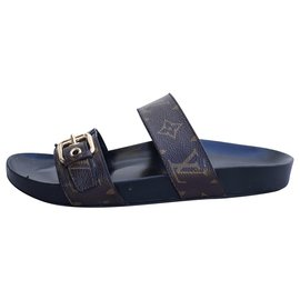 Louis Vuitton-Sandals-Brown,Black