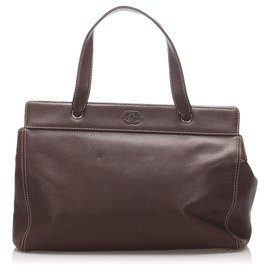 Chanel-Chanel Brown Caviar Leather Tote Bag-Brown