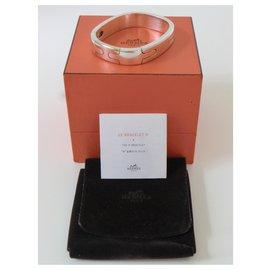 Hermès-Bracelet Jonc Hermès Mixte-Argenté