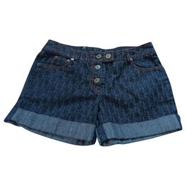 Christian Dior-Shorts-Blue
