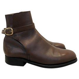 JM Weston-JM WESTON BOOTS 721T.39 5,5 D-Dark brown