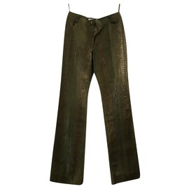 Christian Dior-Dior parade pants A / H 2001-Olive green