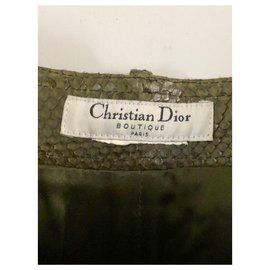 Christian Dior-Pantalon Dior défilé A/H 2001-Vert olive