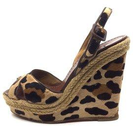 Christian Louboutin-leopard sandals-Leopard print