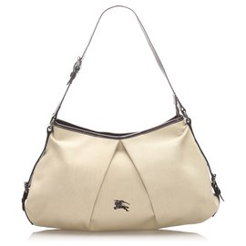 Burberry-Burberry Brown Canvas Tote Bag-Brown,Beige