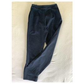Hermès-Pantalon toile Hermès-Bleu Marine
