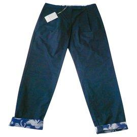 Paul & Joe Sister-PAUL &JOE SISTER Pantalon coton marine T36 Neuf étiquette-Bleu Marine