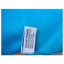 Chanel-CHANEL Paréo turquoise superbe modèle Rare BE-Turquoise