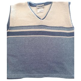 Ikks-Sweaters-Beige,Light blue