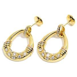 Cartier-cartier  18Boucles d'oreilles diamant en or K-Jaune