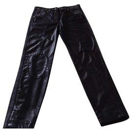 Louis Vuitton-Jean's noir brillant-Noir