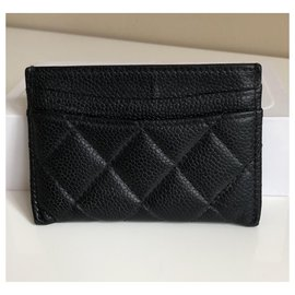 Chanel-Timeless card holder-Black