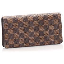 Louis Vuitton-Louis Vuitton Brown Damier Ebene Brazza-Brown