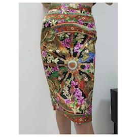 Dolce & Gabbana-DOLCE & GABBANA Ensemble jupe plissée à imprimé floral Carretto Suit Sz.36-Multicolore