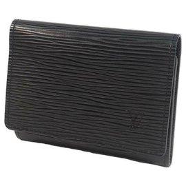 Louis Vuitton-Porte-cartes de visite LOUIS VUITTON Unvethrop Cult De Vijit Porte-cartes homme M56582 Noir-Noir