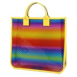 Gucci-Sac cabas GUCCI transparent GG Rainbow Femme 550763 jaune x arc-en-ciel-Autre,Jaune